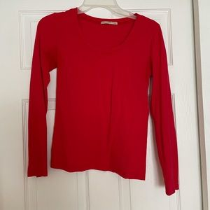 Active Basic Long Sleeve T in Red